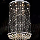 cheap Ceiling Lights-Modern LED Crystal Chandeliers Round Pendant Lights Lighting Lamps Fixtures AC 100 to 240V Transparent K9 Crystal