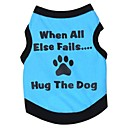 billige Hundeklær-Kat Hund Trøye/T-skjorte Hundeklær Bokstav & Nummer Grå Grønn Blå Rosa Bomull Kostume For kjæledyr Cosplay