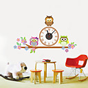 baratos Desenhos Animados Relógios de Parede-Moderno/Contemporâneo Madeira Plástico Outros AA