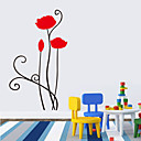 cheap Wall Stickers-Florals Cartoon Wall Stickers Plane Wall Stickers Decorative Wall Stickers, Vinyl Home Decoration Wall Decal Wall