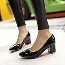 cheap Women's Sandals-Women's Shoes Leatherette Spring / Summer Kitten Heel White / Black / Red / Dress