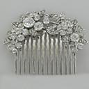 baratos Acessórios de Cabelo-Pele de pente de cabelo de liga de diamante de strass estilo feminino clássico