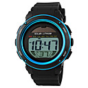 cheap Party Headpieces-SKMEI Men's Sport Watch / Wrist Watch / Digital Watch Alarm / Calendar / date / day / Chronograph Rubber Band Black / Solar Energy / Solar / Water Resistant / Water Proof / LCD / Two Years