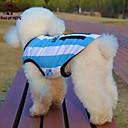 preiswerte Hundespielsachen-Katze / Hund T-shirt / Trikot Hundekleidung Streifen / Buchstabe & Nummer Blau Terylen Kostüm Für Haustiere Sommer Cosplay / Hochzeit