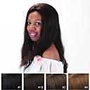 preiswerte Einbauleuchten-Echthaar Vollspitze / Spitzenfront Perücke Glatt Perücke 130% Natürlicher Haaransatz / Afro-amerikanische Perücke / 100 % von Hand geknüpft Damen Medium / Lang Echthaar Perücken mit Spitze / Gerade