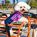 hesapli Mutfak Gereçleri-Kedi Köpek Tişört Pantolonlar Köpek Giyimi Kareli Kotlar Gül Yeşil Mavi Pamuk Kostüm Evcil hayvanlar için Cosplay Düğün