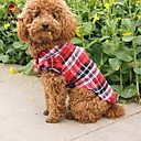 cheap Dog Clothes-Cat Dog Shirt / T-Shirt Dog Clothes Plaid/Check Red Green Blue Cotton Costume For Pets Cosplay Wedding