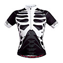 cheap Earrings-WOSAWE Men's Short Sleeve Cycling Jersey - Black / White Skull Bike Jersey, Quick Dry, Breathable, Sweat-wicking Polyester