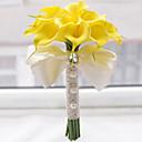 "baratos Bouquets de Noiva-Bouquets de Noiva Buquês Casamento Miçangas Poliéster Cetim Espuma 11.8""(Aprox.30cm)"