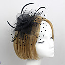cheap Party Headpieces-Feather / Net Fascinators / Flowers with 1 Wedding / Special Occasion Headpiece