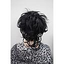 billige Hårstykker-Clips på Hestehaler Syntetisk hår Hårstykke Hårpåsætning Naturligt, bølget hår