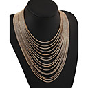 cheap Necklaces-Women's Layered / Tassel Statement Necklace / Layered Necklace - Statement, Tassel, Vintage Screen Color Necklace For