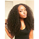 cheap Human Hair Wigs-Human Hair Glueless Lace Front Lace Front Wig Brazilian Hair Kinky Curly Wig 120% Density with Baby Hair Natural Hairline African American Wig 100% Hand Tied Women's Short Medium Length Long Human