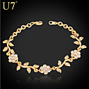 cheap Bracelets-Women's Synthetic Diamond Bracelet - Rhinestone, Imitation Diamond Flower Charm, Vintage, Party Bracelet Gold / Silver For Daily