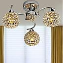 cheap Ceiling Lights-3-Light Chandelier Uplight - Crystal, LED, 110-120V / 220-240V, White, Bulb Included / 30-40㎡ / E12 / E14