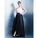 Corte en A Joya Asimétrica Satén Baile de Promoción Evento Formal Vestido con Cinta / Lazo por TS Couture®