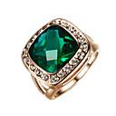 Χαμηλού Κόστους Μοδάτο Δαχτυλίδι-Γυναικεία Πασιέντζα Emerald Cut προσομοίωση Δακτύλιος Δήλωσης Δαχτυλίδι Αρραβώνων Κράμα κυρίες Μοντέρνα Μοδάτο Δαχτυλίδι Κοσμήματα Σκούρο πράσινο Για Γάμου Πάρτι Αρραβώνας Καθημερινά Causal Μασκάρεμα