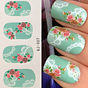 cheap Water Transfer Nail Stickers-1 pcs Flower / Fashion Water Transfer Sticker / Lace Sticker / 3D Nail Stickers Daily
