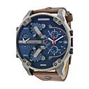 baratos Relógios da Moda-Homens Relógio Militar Couro Banda Preta / Marrom / Cores Múltiplas / Sony S626 / Dois anos