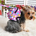cheap Dog Travel Essentials-Dog Backpack Cute and Cuddly Polka Dot Fabric Purple Brown Red Blue