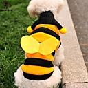 hesapli Köpek Kaseler ve Yemlikler-Kedi Köpek Kostümler Kapüşonlu Giyecekler Köpek Giyimi Hayvan Sarı Polar Kumaş Kostüm Evcil hayvanlar için Erkek Kadın's Sevimli Cosplay
