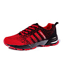 cheap Women's Athletic Shoes-Women's Shoes Knit Spring / Fall Athletic Shoes Running Shoes Flat Heel Lace-up Black / Red / Purple