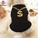 זול כפפות דופט יוקרה-חתול כלב טי שירט בגדים לכלבים שחור ורוד טרילן תחפושות עבור חיות מחמד קוספליי חתונה