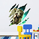 preiswerte Wand-Sticker-Landschaft Tiere Romantik Mode Formen 3D Retro Feiertage Cartoon Design Fantasie Wand-Sticker 3D Wand Sticker Dekorative Wand Sticker,