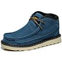 זול נעלי ספורט לגברים-בגדי ריקוד גברים מגפיים סוויד סתיו / חורף נוחות מגפיים 15.24-20.32 cm / 20.32-25.4 cm / מגפונים\מגף קרסול צהוב / כחול