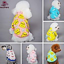 halpa Koiran vaatteet-Kissa Koira T-paita Yöpuvut Koiran vaatteet Piirretty Keltainen Sininen Pinkki Sininen/keltainen Vaalea vaaleanpunainen Polar Fleece