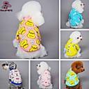 billige Hundetøj-Kat Hund T-shirt Pyjamas Hundetøj Tegneserie Gul Blå Lys pink Blå/Gul Lys Lyserød Polarfleece Bomuld Kostume For kæledyr Herre Dame Sødt