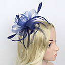 cheap Clutches & Evening Bags-Feather / Net Fascinators / Headwear with Floral 1pc Wedding / Special Occasion Headpiece