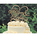 cheap Cake Toppers-Cake Topper Floral Theme Fairytale Theme Classic Couple Hearts Card Paper Wedding Anniversary Bridal Shower With Poly Bag