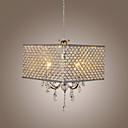 זול Swing אורות Arm-QINGMING® 4-אור Drum נברשות Ambient Light גימור צבוע מתכת קריסטל 110-120V / 220-240V נורה אינה כלולה / E12 / E14