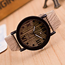 cheap Fashion Watches-Women's Wrist Watch Quartz Leather Brown / Khaki Casual Watch Analog Ladies Vintage Fashion Wood - 4# 5# 6# One Year Battery Life / Tianqiu 377