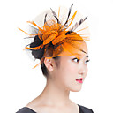 cheap Party Headpieces-Feather Polyester Fascinators 1 Wedding Special Occasion Casual Outdoor Headpiece