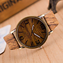 cheap Leather Band Watches-Men's Quartz Wrist Watch Casual Watch PU Band Charm / Wood Grey / Khaki