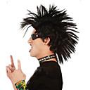 abordables Pelucas-Pelucas sintéticas Recto Corte asimétrico Pelo sintético Peluca afroamericana Negro Peluca Hombre / Mujer Corta Sin Tapa Negro