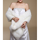 cheap Wedding Wraps-Sleeveless Faux Fur Wedding / Party Evening / Casual Wedding  Wraps / Fur Wraps With Shawls