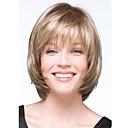 billige Syntetiske parykker uten hette-Syntetiske parykker Bølget Blond Syntetisk hår Blond Parykk Dame Kort Lokkløs Blond