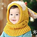 cheap Kids' Hats & Caps-Girls' Boys' Hats & Caps Jewelry Set, Winter Cotton Bandanas - Yellow Red Blue Pink