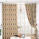 halpa Luxury Verhot-Rypytysnauha Purjerengas Kangaslenkki Tuplavekki 2 paneeli Window Hoito Uusklassiset, Jakardi Raita Living Room Polyesteri materiaali