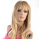 preiswerte Nagel Strass & Dekorationen-Synthetische Perücken Glatt Blond Synthetische Haare Blond Perücke Damen Kappenlos Blondine