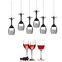 tanie Mini-style wisiorek światła-UMEI™ Nowość Lampy widzące Downlight Chrom Metal Akryl Styl MIni, LED 90-240V Ciepła biel / Biały Źródło światła LED w zestawie / LED zintegrowany