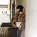 cheap Wedding Wraps-Women's Going out Vintage Fur Coat - Solid Colored