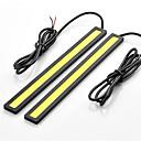 billige Kjørelys-SO.K 2pcs Sportsbil / Minetruck / Politibil Elpærer 7 W COB 400 lm LED Dagkjøringslys For Universell Alle Modeller Alle år