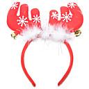 preiswerte Kostüme für Kinder-Weihnachts Party Artikel Rentier-Geweih-Stirnreif Klingglöckchen Textil Feder Baumwolle Spielzeuge Geschenk 1 pcs