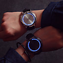 cheap Steel Band Watches-Men's Wrist Watch Touch Screen / Creative / LED Leather Band Fashion / Unique Creative Watch Black / One Year / SODA AG4