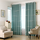 cheap Curtains Drapes-Blackout Curtains Drapes Bedroom Animal Polyester Print & Jacquard