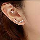 olcso Fülbevalók-Női Beszúrós fülbevalók - Strassz, Hamis gyémánt Zvijezda Luxus, Divat Ezüst / Aranyozott Kompatibilitás Esküvő Parti Napi